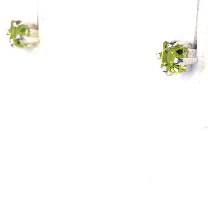 4164d Peridot Colorado Sterling Silver Earrings
