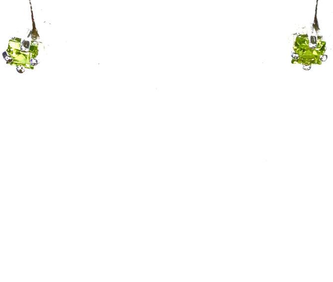 4164e Peridot Colorado Sterling Silver Earrings