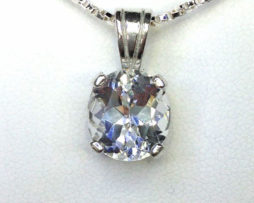 5086 White Topaz CO Sterling Pendant