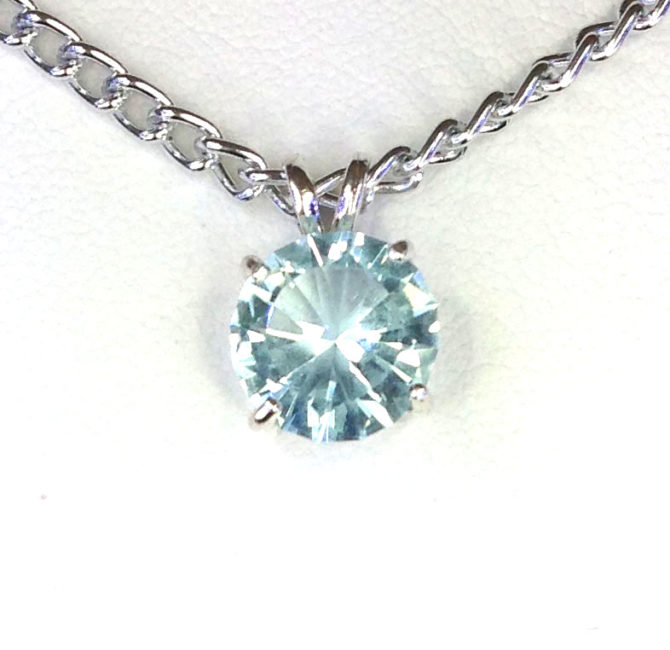 5141b Aquamarine CO Sterling Pendant