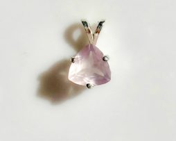 5334 Rose Quartz CO 8x8 Trillion Sterling Pendant