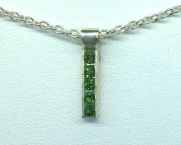 5336a Five Chrome Diopside Channel Sterling Pendant