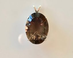 5391 Smoky Quartz Sterling Pendant 1