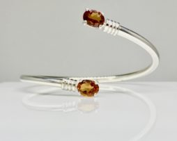 2014 Hessonite Garnet Sterling Bracelet