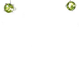 4229a Colorado Peridot 5mm Round Sterling Earrings