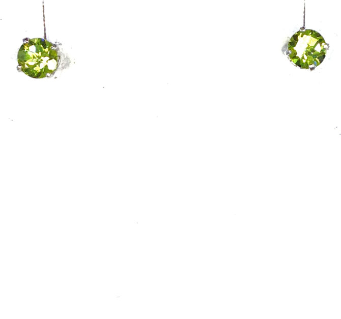 4229a Colorado Peridot 5mm Round Sterling Earrings
