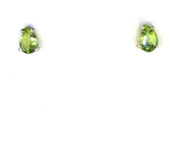4230a Peridot 7x5 Pear CO Sterling Earrings 1