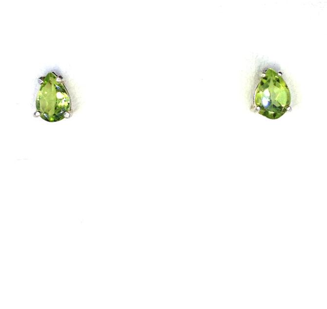 4230a Peridot 7x5 Pear CO Sterling Earrings 1