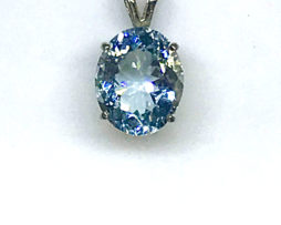 5161 Aquamarine White Gold Pendant