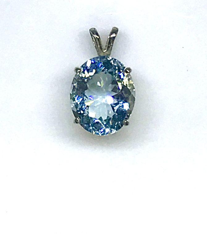 5161 Aquamarine White Gold Pendant