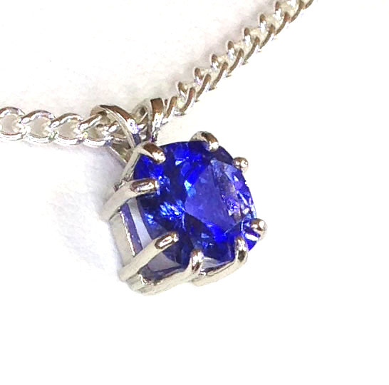 5163c Tanzanite 9x9mm Square White Gold Pendant
