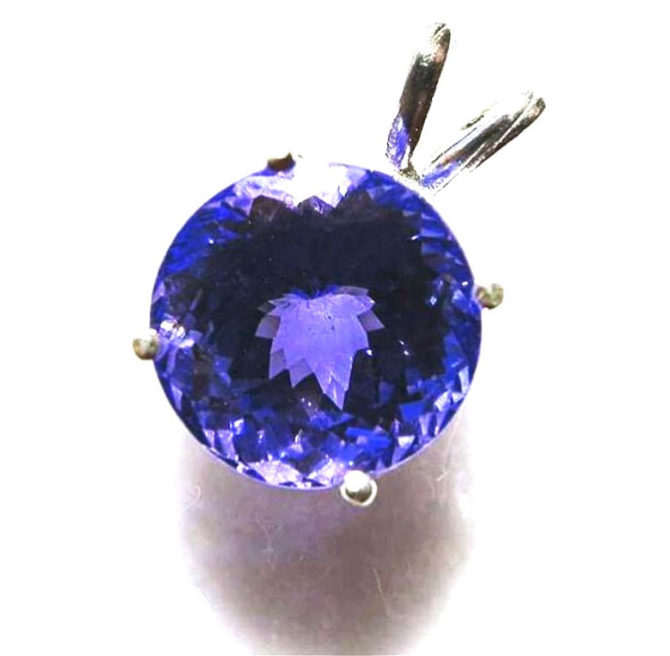 5164 Tanzanite 10mm White Gold Pendant