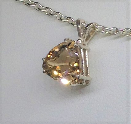 5255a Imperial Topaz Sterling Silver Pendant
