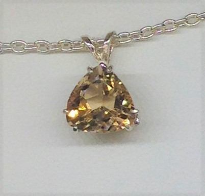 5255b Imperial Topaz Sterling Silver Pendant