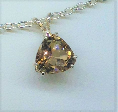 5255d Imperial Topaz Sterling Silver Pendant