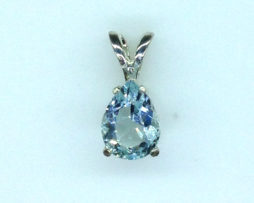5329 Aqua CO Pear Sterling Silver