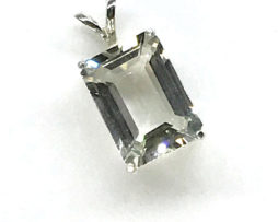 5360 White Topaz CO Rectangle Sterling Pendant