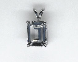5360 White Topaz CO Sterling Pendant