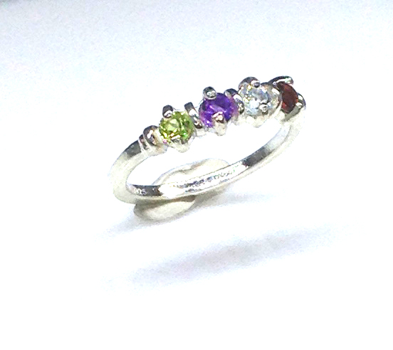 6093aa Mothers Ring 7 Sterling Ring