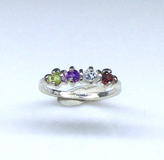 6093bb Mothers Ring 7 Sterling Ring