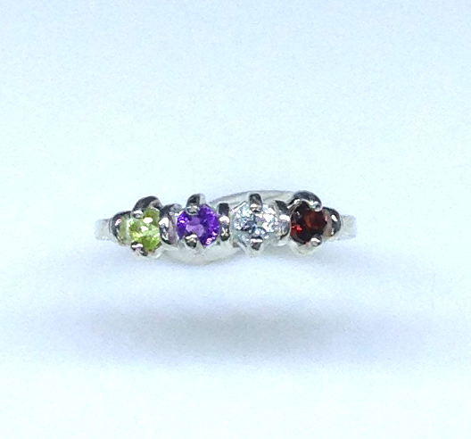 6093dd Mothers Ring 7 Sterling Ring