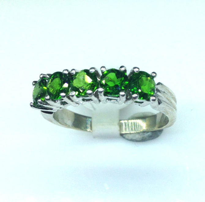 6096a Chrome Diopside Sterling Ring