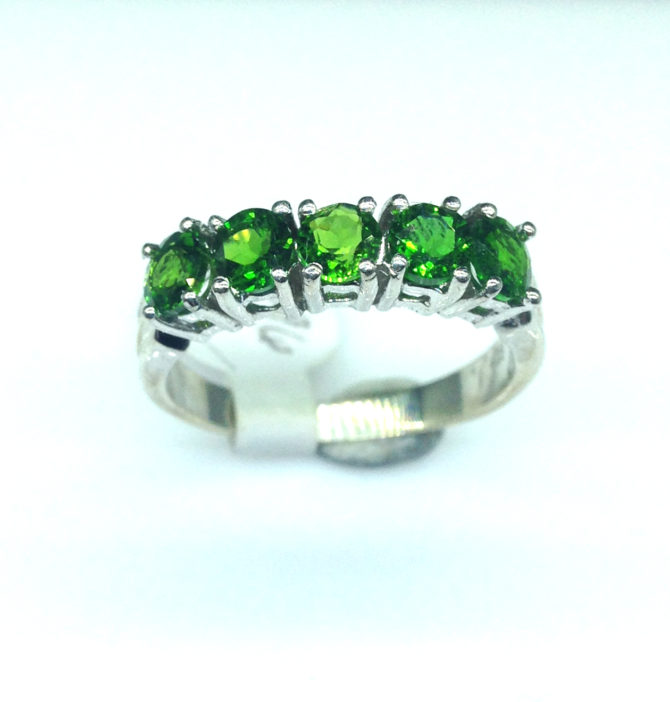 6096b Chrome Diopside Sterling Ring