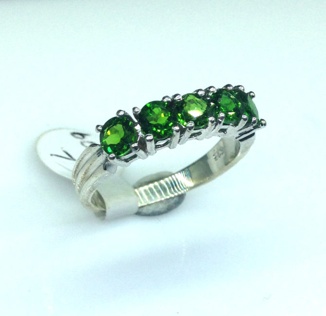 6096c Chrome Diopside Sterling Ring