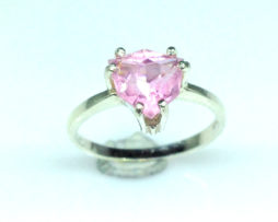 6099a Pink Tourmaline Trillian Sterling Ring