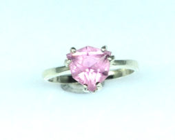 6099b Pink Tourmaline Trillian Sterling Ring