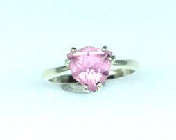 6099b Pink Tourmaline Trillian Sterling Ring
