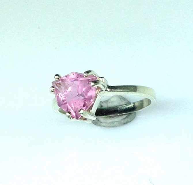 6099d Pink Tourmaline Trillian Sterling Ring