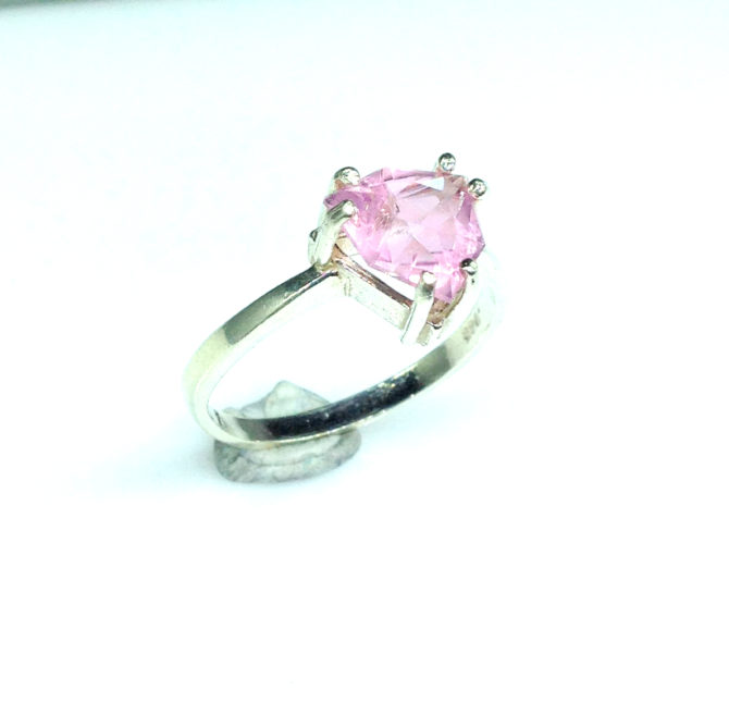 6099e Pink Tourmaline Trillian Sterling Ring
