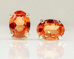 Padparadscha Sapphire ovals