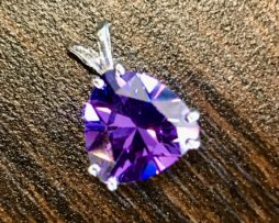 5296 Arizona amethyst triangle sterling silver pendant
