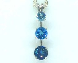 5354d Three Topaz Sterling Pendant
