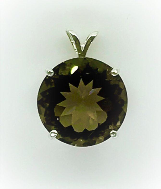5439 Colorado smoky quartz sterling silver