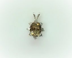 5442a Russian Topaz Sterling Pendant