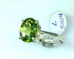 6105b Peridot AZ Oval Sterling Ring