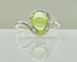 Arizona Peridot cut as a Cabochon