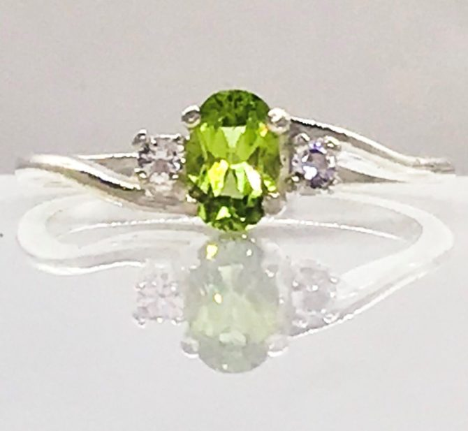 Colorado Peridot set in a Sterling Silver Ring