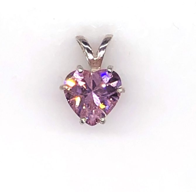 5335 Synthetic Pink Zircon set in Sterling Silver