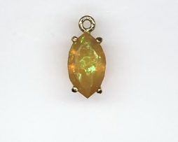 5458 Mexican Fire Opal in a Yellow Gold Pendant