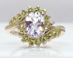 6126 Topaz & Peridot accents in Sterling Silver
